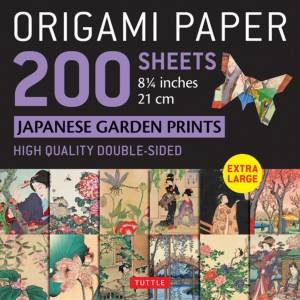 Origami Paper 200 Sheets Japanese Garden Prints
