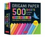 Origami Paper 500 Sheets Rainbow Colors 6 15 cm