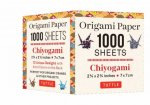 Origami Paper Chiyogami 1000 sheets 2 34 in 7 cm