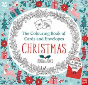 Colouring Cards And Envelopes: Christmas by Rebecca Jones