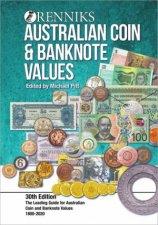 Renniks Australian Coin  Banknote Values 30th Edition