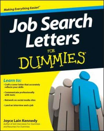Job Search Letters for Dummies by Joyce Lain Kennedy
