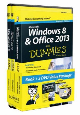 Windows 8 & Office 2013 for Dummies (Portable Edition Book+2 DVD Bundle) by Andy Rathbone & Wallace Wang