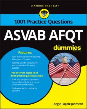 1001 ASVAB AFQT Practice Questions For Dummies + Otb