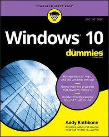 Windows 10 For Dummies 3rd Ed