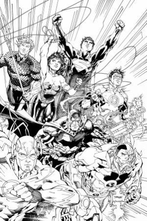 Justice League An Adult Coloring Book By Various 9781401274047 Qbd Books