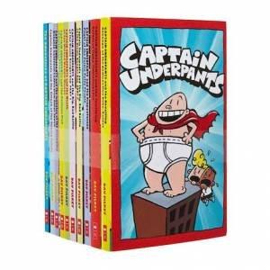 Captain Underpants: 10 Book Set by Dav Pilkey