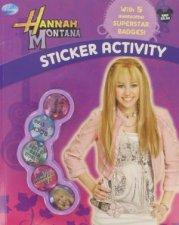 Disney Hannah Montana Sticker Activity with Badges