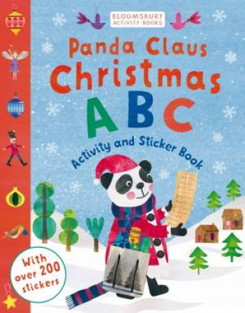 Panda Claus Christmas ABC Sticker Activity Book