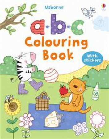Usborne ABC Colouring Book with Stickers by Various