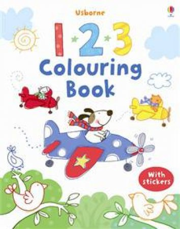 Usborne 123 Colouring Book with stickers by Various