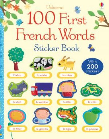 100 First Words in French Sticker Book by Various