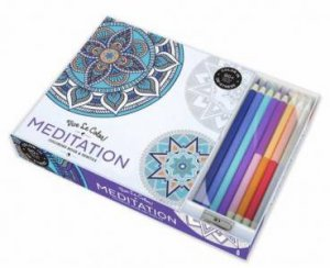 Vive Le Color: Meditation (Colouring Book And Pencil Kits)