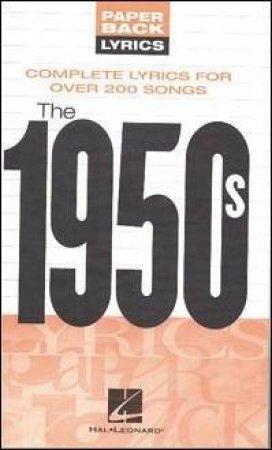 Paperback Lyrics 1950s by Sales Music - 9781423411925 - QBD Books