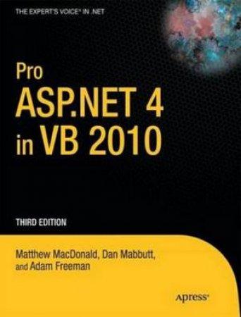 Pro ASP.NET 4.0 in VB 2010, 3rd Ed