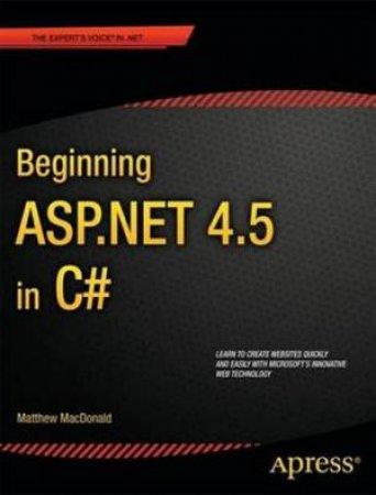 Beginning ASP .NET 4.5 in C#