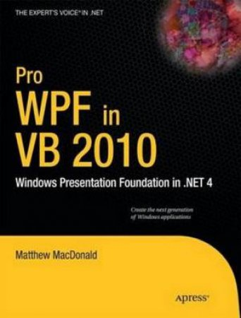 Pro WPF in VB 2010