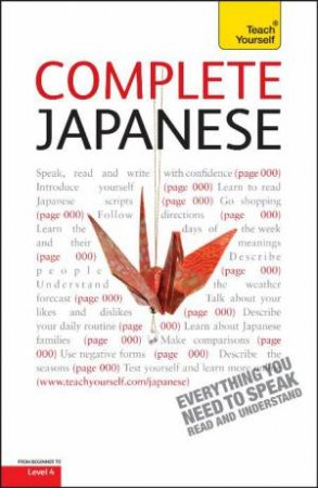 Complete Japanese Audio Support: Teach Yourself by Helen Gilhooly