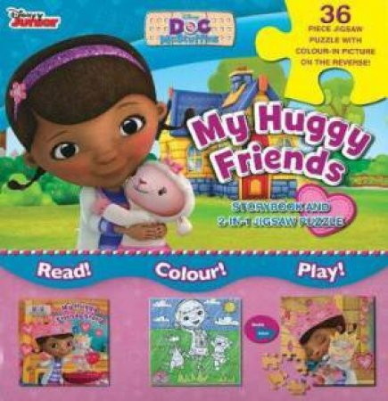 Disney Junior Doc McStuffins My Huggy Friends: Storybook And 2-In-1 Jigsaw Puzzle by Various