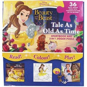 Disney Princess Beauty And The Beast: Storybook And 2-In-1 Jigsaw Puzzle