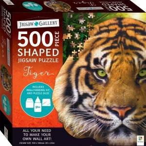 500-Piece Shaped Jigsaw: Tiger
