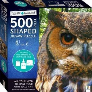 500-Piece Shaped Jigsaw: Owl