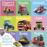 First Step Learning Library Tray: Mighty Movers by Various