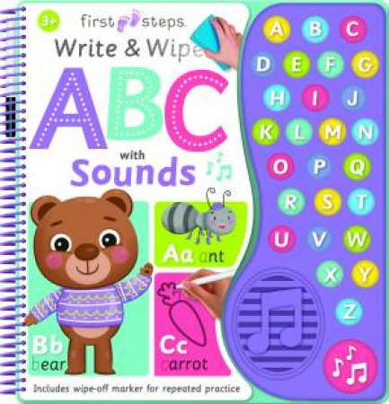 First Steps Write and Wipe ABC with Sounds