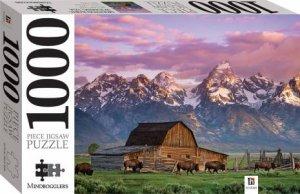 Mindbogglers 1000 Piece Jigsaw: Moultan Barn, Wyoming