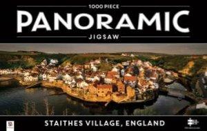 1000 Piece Panoramic Jigsaw: Staithes Village UK