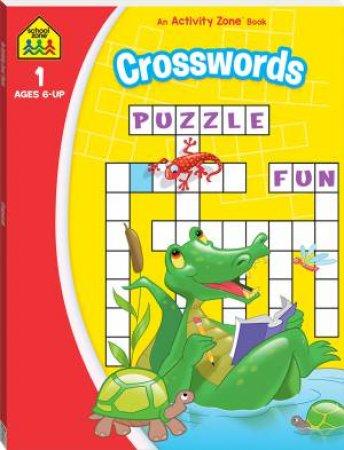 School Zone: I Know It Deluxe Workbook: Crosswords Activity Book 2020