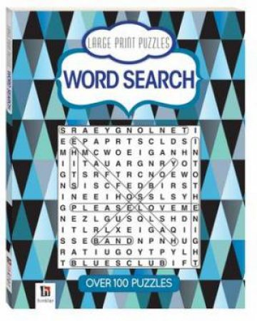 Prestige Puzzles Large Print: Word Search (Blue) by Various