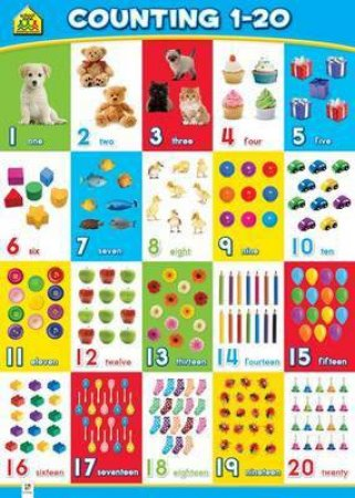 School Zone Wall Chart (Updated): Counting 1-20