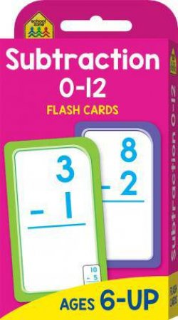 School Zone Flash Cards: Subtraction 0-12