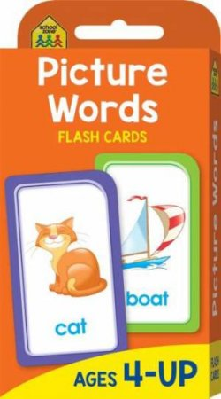 School Zone Flash Cards: Picture Words