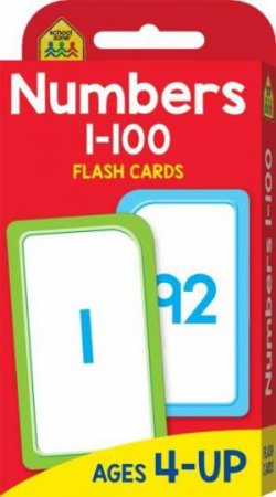 School Zone Flash Cards: Numbers 1-100