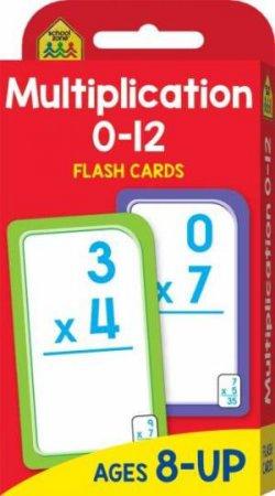 School Zone: Flash Cards: Multiplication 0-12