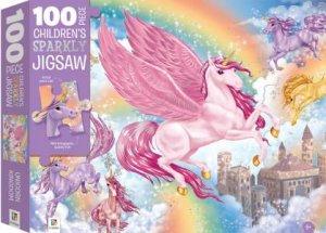 100 Piece Children's Sparkly Jigsaw: Unicorns
