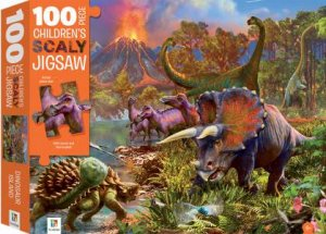 100 Piece Children's Scaly Jigsaw: Dinosaurs
