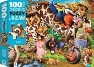 100 Piece Children's Furry Jigsaw: Animals