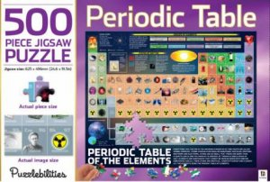 Puzzlebilities 500 Piece Jigsaw Puzzle: Periodic Table