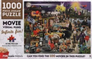 1000 Piece Puntastic Jigsaw Puzzle: Movies
