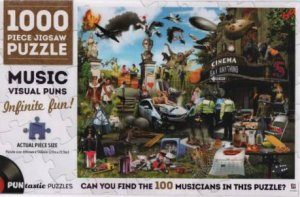 1000 Piece Puntastic Jigsaw Puzzle: Musicians by Various