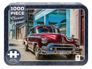 1000 Piece Classic Jigsaw Tin: Classic Car On Cuban Road by Various