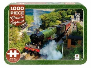 1000 Piece Classic Jigsaw Tin: Steam Train On Railway In North Wales