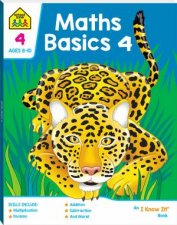 School Zone I Know It Deluxe Workbook Maths Basics 4 8