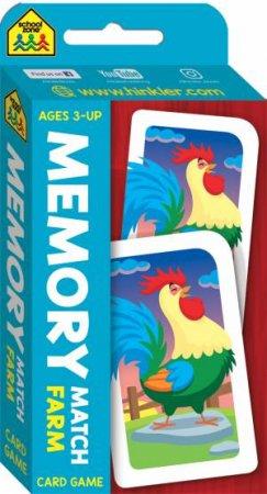 School Zone: Flash Cards: Memory Match Farm Card Game