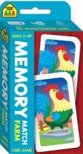 School Zone Flash Cards Memory Match Farm Card Game