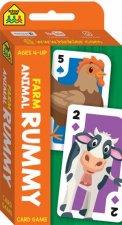 School Zone Flash Cards Farm Animal Rummy Game