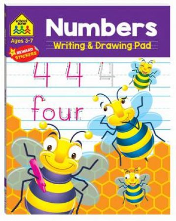 School Zone: Numbers: Writing & Drawing Pad
